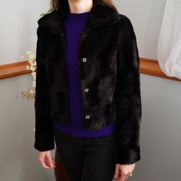 Ambiance Jackets & Blazers - AMBIANCE, black faux fur coat!